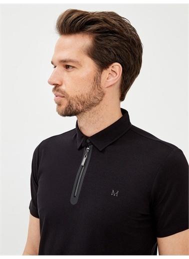 MCL MCL Polo Yaka Pamuklu Slim Fit Tişört Siyah